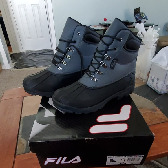 Fila Brand New Steel Toe Boots In Orig